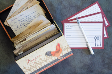 Recipe Box, Recipe Cards, Vintage Recipes