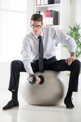 Businessman Exercising