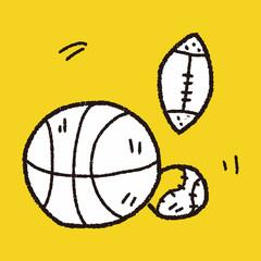 sport ball doodle
