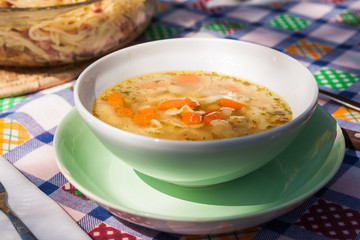 Soup in the sunshine - Hungarian broth