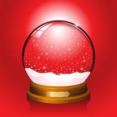 Red Snow Globe