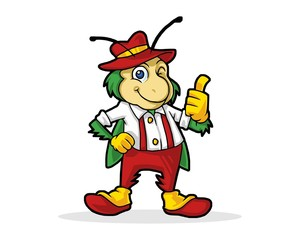 cricket character image vector