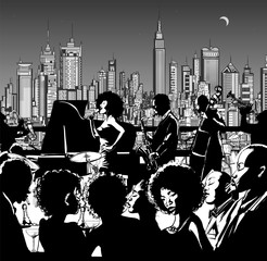 Wall Mural - Jazz music band performing in New York