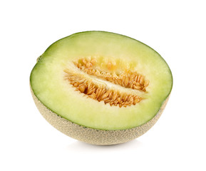 melon fruit on white background