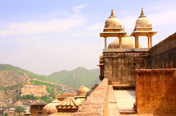 Foto auf Leinwand Befestigung Amber Fort near Jaipur, Rajasthan, India