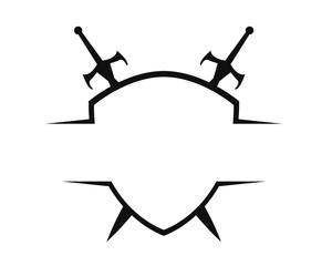 Sword & Shield Logo Template