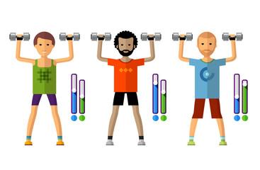 gym vector logo design template. sport, athletics or fitness