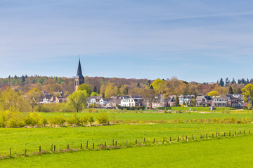The small Dutch village of Dieren in front of the Veluwe