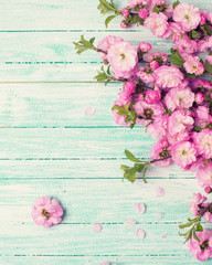 Postcard  with fresh flowers