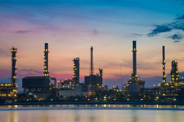 oil refinery industry plant along twilight morning 1