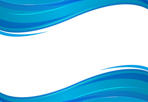 Background with blue waves