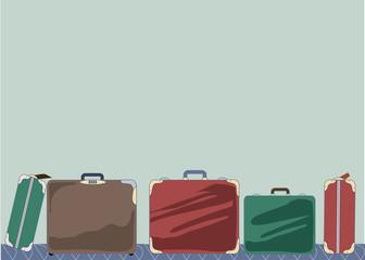 . Baggage. Luggage belt. Vector