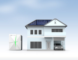 Stationary battery system and smart house