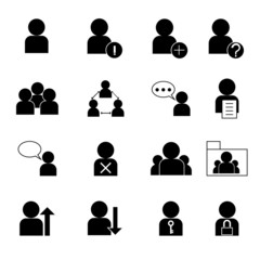 user management icon set vector illustration