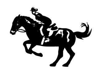 rider on horseback vector