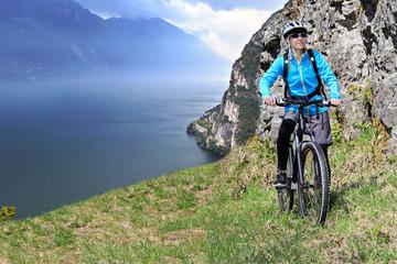 biking to the peak