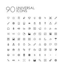 90 Universal icon set