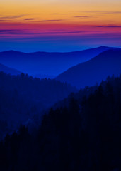 Layered Colors in the Smokies