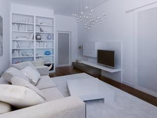 High-tech living room design