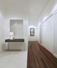 Spacious corridor modern style