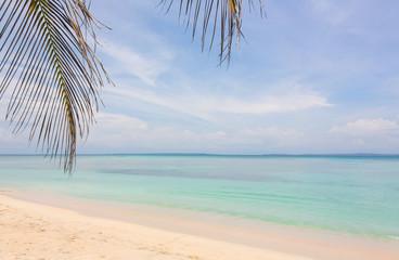 Beach on Zapatilla island, Bocas del Toro, Panama