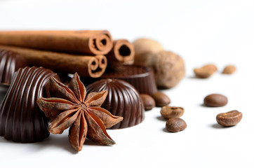 Coffee with chocolate and spices