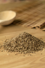 Spice cumin on a wooden table 2.