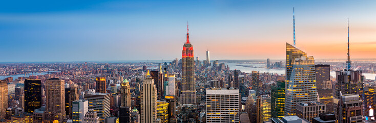 Fotomurales - New York skyline panorama at sunset