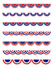 Patriotic bunting / divider set
