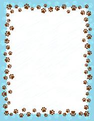 Paw prints border
