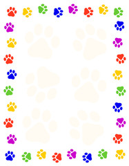 Dog Paw Frames Photos Royalty Free Images Graphics Vectors