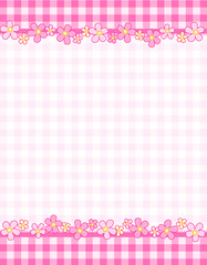 Gingham header / footer eith flowers