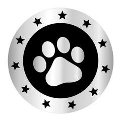 Paw print silver logo