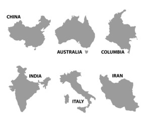 Map of any country around the world