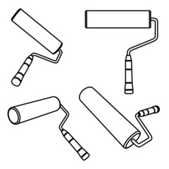 Vector illustration of paint rollers