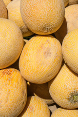Melons on market