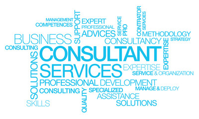Consultant services coaching words tag cloud text