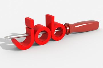 Logo 3D job con cacciavite