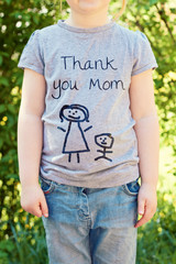 little girl on mothers day - background for greeting card