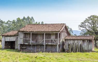 Casa rústica de madeira