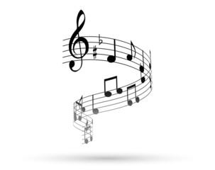 note, note musicali, pentagramma, music