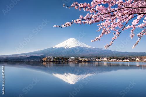 Wall mural Berg Fuji in Kawaguchiko Japan
