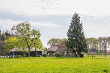 Dutch farm house near Dalfsen in Overijssel in the Netherlands