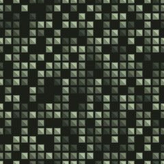 Light and dark green mosaic pattern on dark background