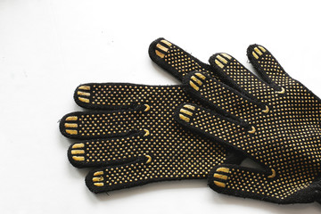 work gloves rubberized texture