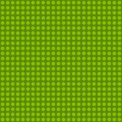 Seamless green polka dot pattern