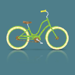 Polygonal bicycle vector illustration. Eco-friendly transport.