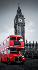 Foto op Aluminium Londen rode bus London bus und Big Ben