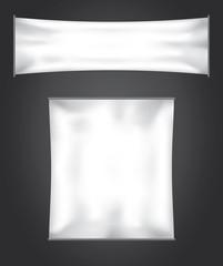 Empty banner flag vector set