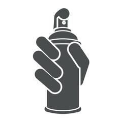 Icono aislado aerosol gris